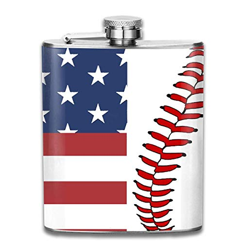 Flaggen-Baseball schnürt sich angesagte Edelstahl-Flasche 7 Unze