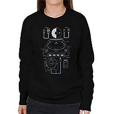 Sega Dreamcast Patent Blueprint Women's Sweatshirt