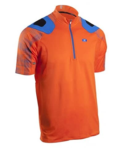 Sugoi, Herren, Radsport Trikot evo-x Short Sleeve Jersey, Herren, Rot, Orange