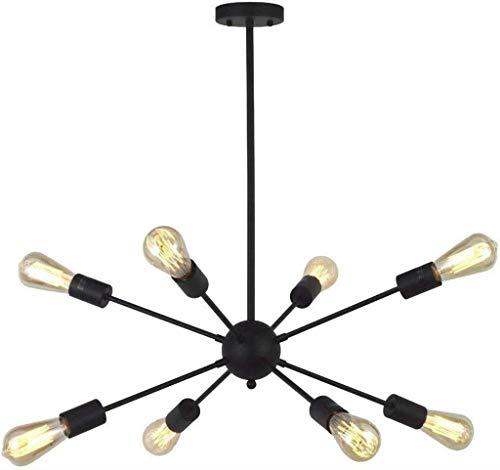 8 Luz de techo colgante de luz de mesa industrial retro Lámpara de ...