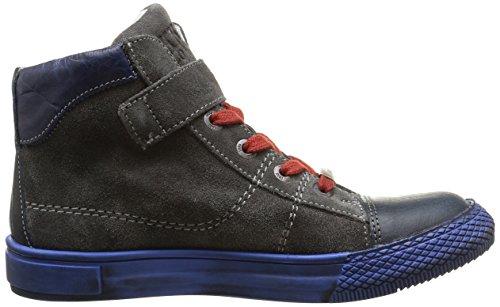 IKKS Anthony, Sneakers Hautes garçon Bleu (Ctv Marine/Gris Dpf/Tavolo)
