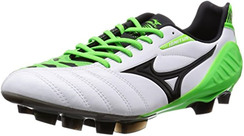 Mizuno - Botas de fútbol para hombre White / Black / Green