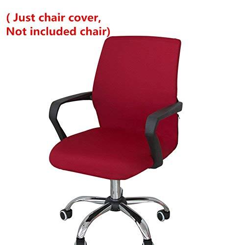 l, Computerstuhl, Chefsessel, Lehnstühle. Universeller, abnehmbarer Ersatzbezug für Drehstühle. Schonbezug aus robustem Stretchmaterial., wein, S(Kein Stuhl) ()