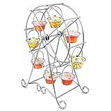 Velidy Cupcake-Ständer aus Stahldraht, Riesenrad, für 8 Cupcakes, für Hochzeit, Zuhause und Geburtstag, Servierplatte