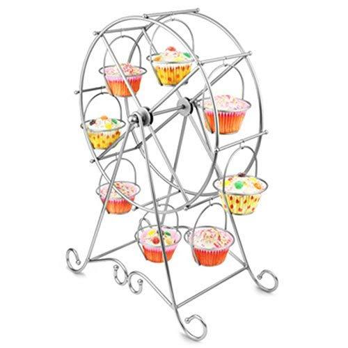 der aus Stahldraht, Riesenrad, für 8 Cupcakes, für Hochzeit, Zuhause und Geburtstag, Servierplatte ()