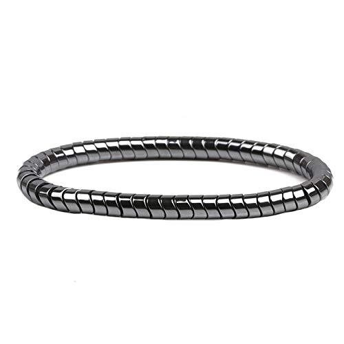 WDAIJY Herren Armband,Schwarz Hämatit Stein Perlen Armband Health Care Magnet Therapie Armband Gewicht Verlust Für Frauen Männer Schmuck Geschenk -