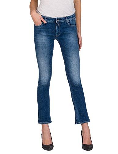 Replay Damen DOMINIQLI Flared Jeans, Blau (Mid Blue Denim 9), W27/L30 Jeans Flared Jeans