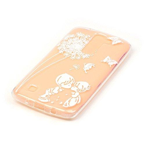 Per iPhone 7 Plus Custodia,Mobilefashion Custodia in Ultra Sottile TPU Protettiva Case Cover per Apple iPhone 7 Plus 5.5 inch (lupo M) + Pellicola Protettiva Dono Gratuito + Colore casuale Protezione  Farfalla bacio M