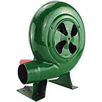 BBQ Fan Top Manual Forge Blower Hand Crank Bellows (Green,80W)