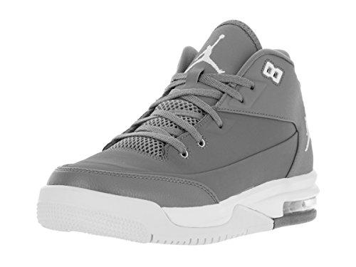 Air Jordan 3 Cool Grey (Nike Jungen Jordan Flight Origin 3 BG Turnschuhe, Grau/Weiß/Schwarz (Kühles Grau/Weiß-Schwarz), 38 1/2 EU)