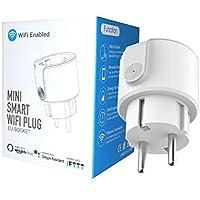 Enchufe Inteligente Wifi DIYtech Inalámbrico con Monitorización de Energía, Compatible con Alexa y Google Home, App gratuita y facil de configurar (Pack 1 unidad)
