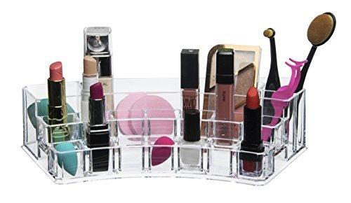 Acrylique rouge à lèvres maquillage vernis à ongles organisateur - Multi compartiment lip gloss brosse parfum palette accessoires meuble stockage organisateurs!Comptoir cosmétiques maquillage présentoir pour filles Gloss set