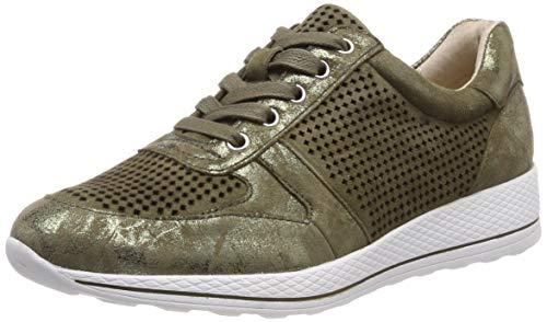 CAPRICE Damen Inexes Sneaker, Grün (Khaki Suede 720), 39 EU