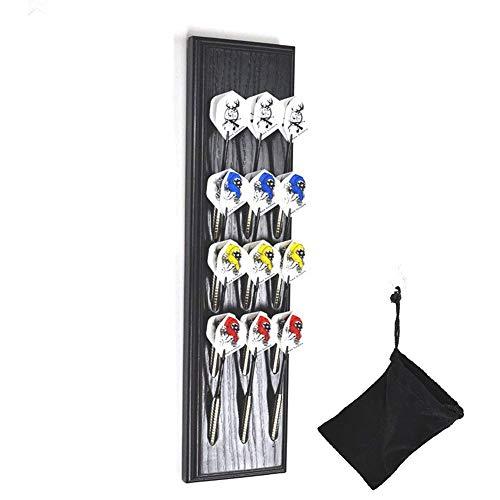Gallop Chic Holz Dartpfeile Display Stand -Dart Pfeile-Anzeigen-Lagerregal, Dartständer bieten Platz für 12 Dart Pfeile (4 Set), Dieses Dart Pfeile Halter passt das Gehäuse perfekt an Ihr Board