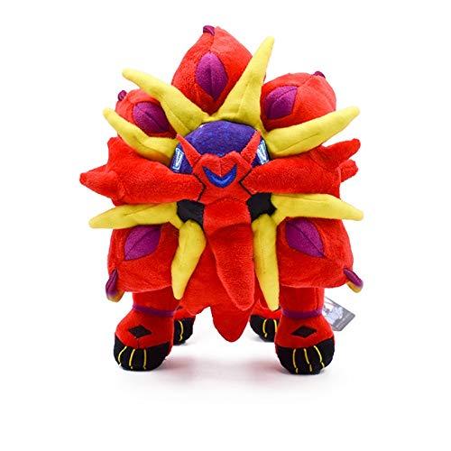 xuritaotao 25 cm Nette Rote Solgaleo Plüsch Cartoon Weiche Gefüllte Puppe Spielzeug Heiße Japanische Anime Peluche Spielzeug Gutes Geschenk Für Kinder (Plüsch-spielzeug Japanische)