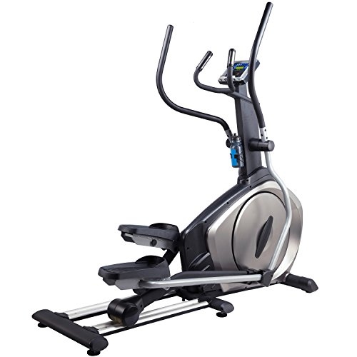41NfgNbNpJL. SS500  - AsVIVA E3 Pro Elliptical Trainer with App and Bluetooth Compatible, Magnetic Brake and Multifunction Computer and LCD Display, Silver