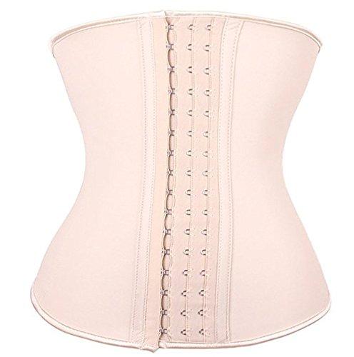 philaeec-corse-para-mujeres-de-latex-clasico-deshuesado-con-ganchos-de-3-filas-ajustables-marfil-3xl