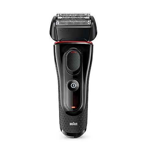 Braun Series 5 Elektrorasierer 5030s, mit Präzisionstrimmer, schwarz/rot (Geschenke Für Den Mann Online-shopping)