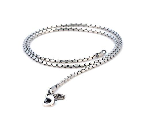 Bico Herren Damen Schlange 55cm Halskette (F100 55cm) Silber
