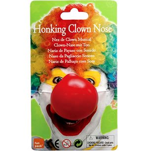 (Bristol Novelty MD178 hupenden Clown Nase, Rot, One size)
