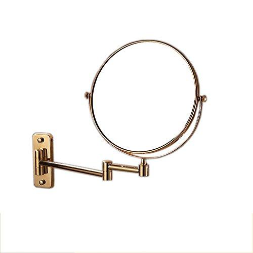 DW&HX Badezimmerspiegel Ausfahrbare schminkspiegel,8inch Falten Zweiseitige schwenkbare Wandmontage...