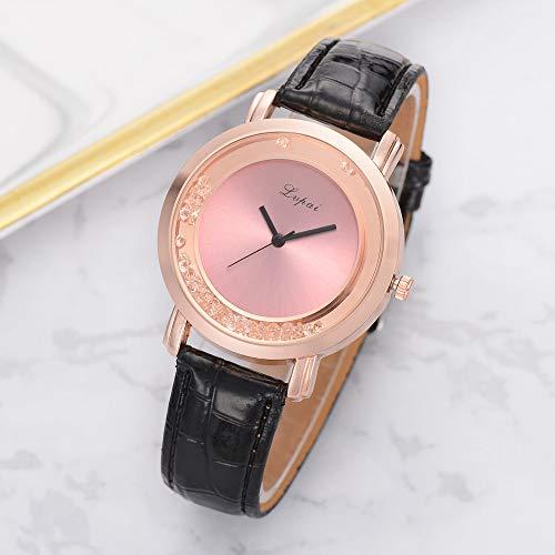 Herren Damen Analog Uhr Dünn Elegant Luxusuhr Geschäft Braun Armband Schwarz