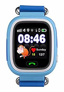Kids GPS Tracker Color Touch Screen Bright OLED Watch Blue