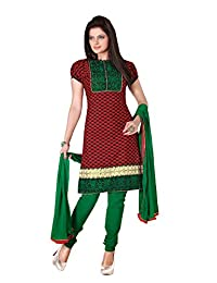 Jagadamba's Cotton Embroidered Casual Wear Dress Material For Women's