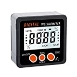 Babysbreath17 360 Grad-Winkel-Digital-Winkelmesser-Inklinationskompass Elektronische Bevel Box Winkelmesser Meter Messwerkzeug Magnetfuß
