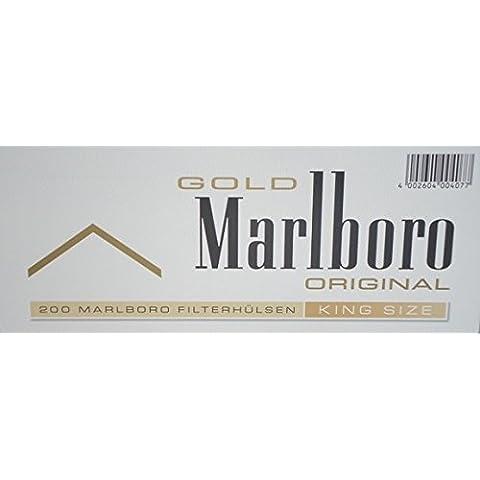 Marlboro Gold - Set de 1000 cigarrillos con filtro para máquinas de liar