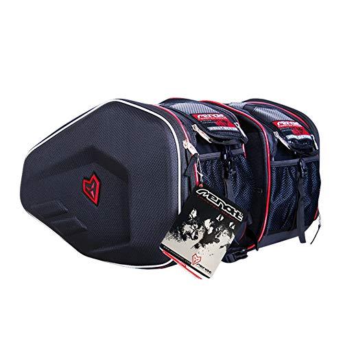Mtsbw borse da sella moto vivid borse rigide nere rigide custodia in fibra leggera borsa da viaggio impermeabile durevole di grande capacità (1 paio)