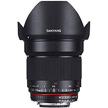 Samyang F1120705101 - Objetivo fotográfico DSLR para Sony A (distancia focal fija 16mm, apertura f/2-22 ED AS UMC CS, diámetro filtro: 77mm), negro