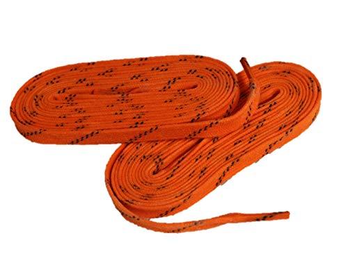 Schnürsenkel farbig HTX3 Eishockey gewachst Pro line (neon orange, 274)