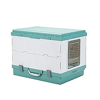 FXQIN Bacs à litière pour Chat, avec bac et Couvercle pour litière entièrement Amovible, Vert, détachable et Facile à Nettoyer