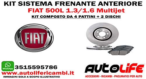 Kit Freni Anteriore 500L 1.3/1.6 Multijet