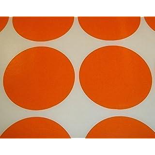 Audioprint Ltd. 200er Pack Runde Farbsticker Preisaufkleber Aufkleber Labels - Orange, 45mm