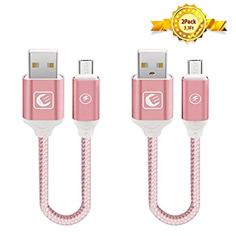 Micro USB Cable EMNT [2-Pack] (3.3ft X 2) High Speed USB 2.0 A Male to Micro B Sync and Charge Cables for Android Smartphones, PS4 Controller and More