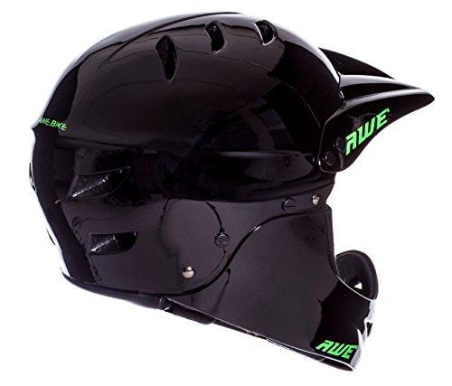 AWE® BMX Full Face Casco Nero M, 54-58cm
