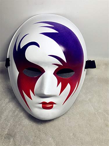 NUOKAI Halloween Horror Performance Maske Maske männlich Street Dance handbemalte Maske Tänzerin schwarz Vendetta Maske, gemalt Einblick in die Flüsse und ()