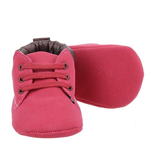 La Cabina Chaussures Bébé Fille garçon -Chaussure Bébé Fille Garçon Premier Pas -Chaussures Imperméables Souples Confortable - Chaussures Antiglisse pour été Printemps (6-9 mois, rouge) rouge