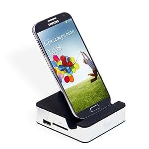 Leicke CleverDock - Dockingstation für Samsung Galaxy Note 3 mit 3x USB, HMDI, Kartenleser und Audio, abwärtskompatibel zu S4 S3 & Note2 Ihr Smartphone kann mit Maus,Tastatur und Bildschirm als Desktop - Ersatz benutzt werden!