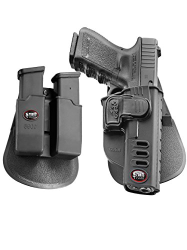 Fobus neu Pack GLCH verdeckte Trage Taktisch Pistolenhalfter Sicherungs Trigger Sicherheit Zuhaltungs system Halfter Holster + Doppel-Magazintasche für Glock 17, 19, 22, 23, 31, 32, 34, 35 (Pistole Swat-team)