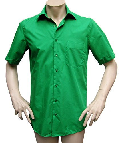 MUGA Homme Chemise manche court Vert foncé