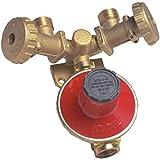 Mondial CENTRALINA Gas GPL per 2 BOMBOLE con REGOLATORE Bassa Pressione 4 kg