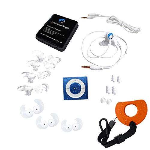 Underwater Audio - Wasserdichter iPod Shuffle (Blau) und Swimbuds Sports Bündel