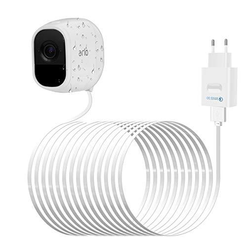 LANMU Netzteil Adapter Ladegerät für Arlo Pro mit 8m USB Ladekabel kompatibel mit Arlo Pro VMS4330/ Arlo Pro 2 VMC4030P Überwachungskamera Smart Home Zubehör (QC 3.0 Ladeadapter und Kabel) - Dc Smart Adapter