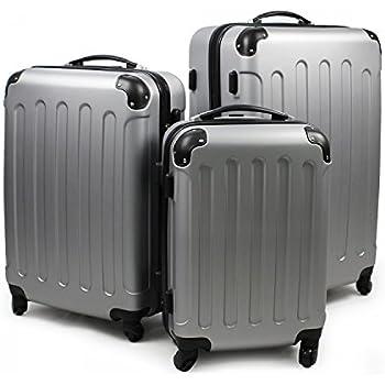 Valise de voyage trolley coque rigide valise de voyage avec 4 rouleaux Champagne L rk4204ch-l
