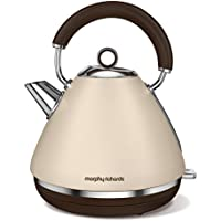 Morphy Richards Retro Accents 1.5L 2200W Arena - Tetera eléctrica (1,5 L, Arena, Aluminio, China, 2200 W, Corriente alterna)