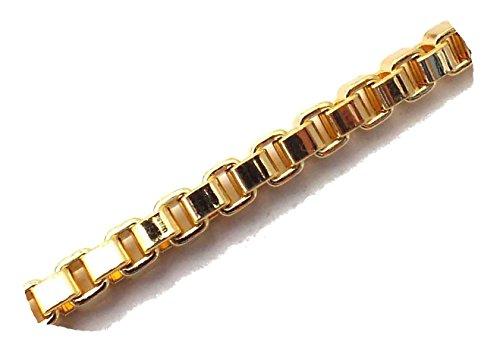 ette 18kt Gold Doublé 2,6 mm Länge 50 cm Halskette Goldkette Herren-Kette Anhängerkette Damen Geschenk Schmuck ab Fabrik Italien VGY2,6-50 ()