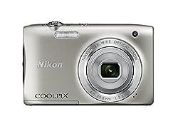 Nikon COOLPIX S2900 Digital Camera (Silver) - International Version (No Warranty)